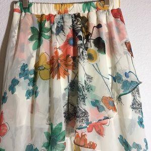 Joe Benbasset | Beautiful Flowered High Low Skirt